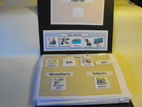Board maker COMMUNICATION + SCHEDULE BOOK SPECIAL NEEDS AUTISM in gloss