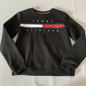 Tommy Hilfiger Girls Black Jumper / Sweater - Age 8-10 Years - Immaculate Condit