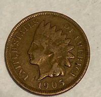 FREE SHIP! 1905 Indian Head Cent -100+ Year Old Penny- Type Coin - QTY Discount!