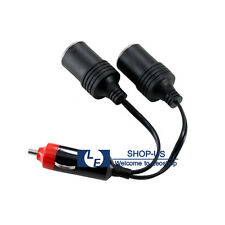 New 12V Car Cigarette Lighter Dual Power Charger Socket Outlet Splitter Adapter