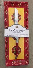 Le Cadeaux Corvo Red Yellow MELAMINE Baguette Tray & Bread Knife  2 Piece Set