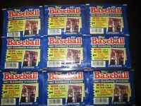 1987 Topps Baseball Yearbook Sticker Unopened Packs Lot of 9