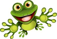 Frog Cartoon Froggy Gecko Sticker Decal Graphic Vinyl Label V1