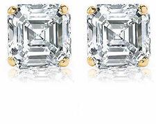 2 carat classic Asscher Cut Diamond 14k Gold Studs Earring I VS1 GIA cert