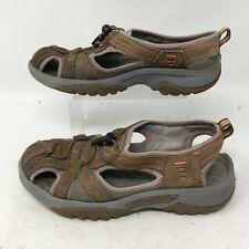 Privo By Clarks Joyner 17710 Brown Gray Leather Fisherman Sandals Womens 6.5