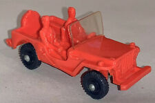 TOMTE LAERDAL * No 2 * WILLYS JEEP * ROT * GUMMIAUTO