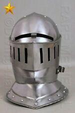 18GA-SCA-LARP-Medieval-Knight-Tournament-Close-Armor-Helmet-Replica MT46