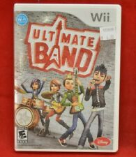 Wii Disney Ultimate Band Game case instructions Previously Played
