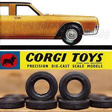 """CORGI TOYS TYRES X 10 - 15mm """"CORGI TOYS"""" stamped on the side"""