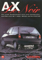 1 Citroen AX Le Noir Prospekt D 4 Seiten brochure broschyr catalogus broszura