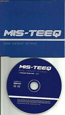MIS TEEQ One Night Stand STARGATE RADIO EDIT Europe PROMO DJ CD Single misteeq