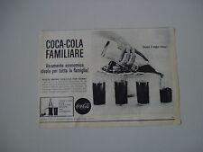 advertising Pubblicità 1963 COCACOLA COCA COLA