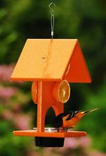 Orange Oriole Recycled Plastic Jelly, Fruit Birdfeeder