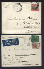 MALAYA 1930s TIGERS to ENGLAND 4c SOLO + 55c...2 COVERS