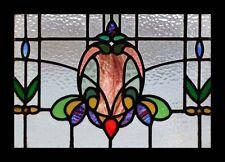 Art Nouveau Floral English Antique Stained glass Window
