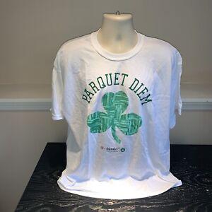 Boston Celtics Paquet Diem Parquet Floor Shamrock Logo T Shirt NBA Mens XL