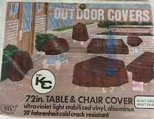 "72"" K-C Round  Patio Table and Chair Cover  UV Stabilized Vinyl Style 203"