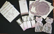 Lavender Eyelet Journal and Party Decorations