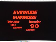 - Evinrude intruder Outboard 8 decal set   90 hp  red marine vinyl Free ship