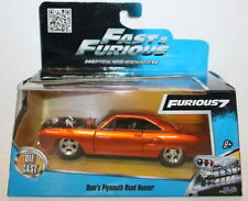 Voitures, camions et fourgons miniatures orange Fast & Furious