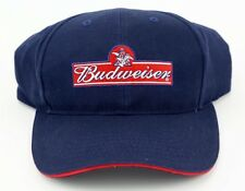 BUDWEISER NAVY / RED FRONT LOGO BEER PARTY ADJUSTABLE BALL CAP HAT NEW CAPSTONE