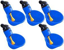 (5) AUTOMATIC WATERER DRINKER CUPS CHICKEN COOP POULTRY CHOOK BIRD TURKEY DRINK