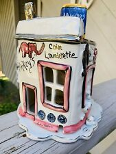 Pinkey'S Launderette Laundry Candle Tea Light House, Blue Sky ClayWorks Goldminc