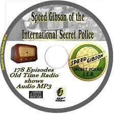 Speed Gibson of the International Secret Police 178 Old Time Radio Shows MP3 CD