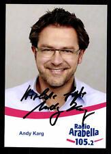 Andy Karg Radio Arabella Autogrammkarte Original Signiert ## BC 37978