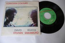 """DAVID SYLVIAN/R. SAKAMOTO""""FORBIDDEN COLOURS-DISCO 45 GIRI VIRGIN It 1983""""  OST"""