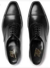 George Cleverley  Cap Toe Charles Black Oxford size Uk8,5; US 9; EU42,5