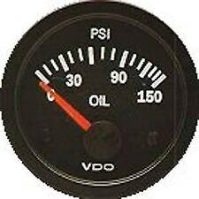 "Oil Pressure Guage 150 PSI 2 1/16"" Black face VW Bug VW beetle VW Dune Buggy"
