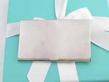 Tiffany card holder ebay tiffany co silver blank business card holder box included reheart Images