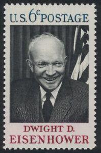 Scott 1383- Dwight D.Eisenhower, US Président - MNH 6c 1969- Inutilisé Timbres