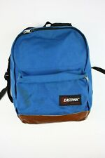 Vintage Eastpak Blue Leather Bottom Made in USA Backpack Daypack