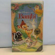 Bambi VHS Brandneu 1993 Schwarz Dawn Edition 942