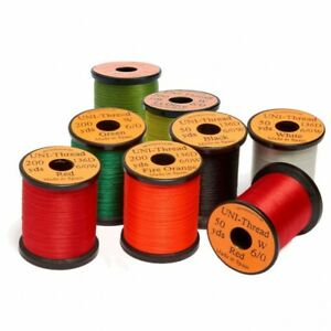 UNI Thread Fly Tying Thread. Veniards- 6/0 or 8/0 Pre-waxed 200yds Chose Colour