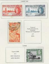 4 Kenya and Uganda Stamps from Quality Old Antique Album 1946-1949