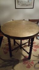 vintage solid brass engraved foldable table