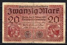 Allemagne  - Germany billet de 20 mark (2) pick 57 20 février 1918 Fine