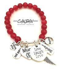I Love You Mum Gift Bracelet Happiness Inspire Thank You Angel Wings Charms