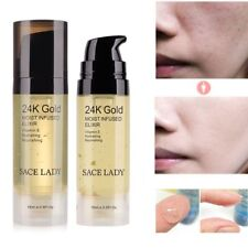 Face Essential Moisturizing Oil 24k Gold Anti-aging Elixir For Skin Makeup~