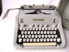Hermes 3000 Portable Typewriter Pica Type Mint Green & White With Case