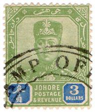(I.B) Malaya States Revenue : Johore Duty $3