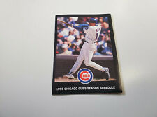 RS20 Chicago Cubs 1999 MLB Baseball Pocket Schedule - Budweiser