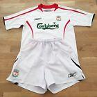 Liverpool FC #14 ALONSO 2005-06 Kids Football Away Kit Size 9-10 Years, White