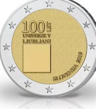 Slovenia Coin 2€ Euro 2019 Commemorative 100y University Lubjiliana New UNC