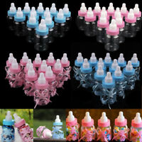 12/24X Fillable Bottles Candy Box Baby Shower Blue Pink Party Favour Christening