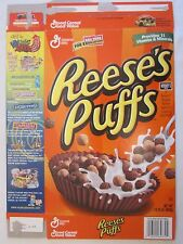 Empty GENERAL MILLS Cereal Box 2002 REESE'S PUFFS 14.25 oz