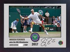 Roger Federer signed autographed The Championships Wimbledon Tennis Memorabilia